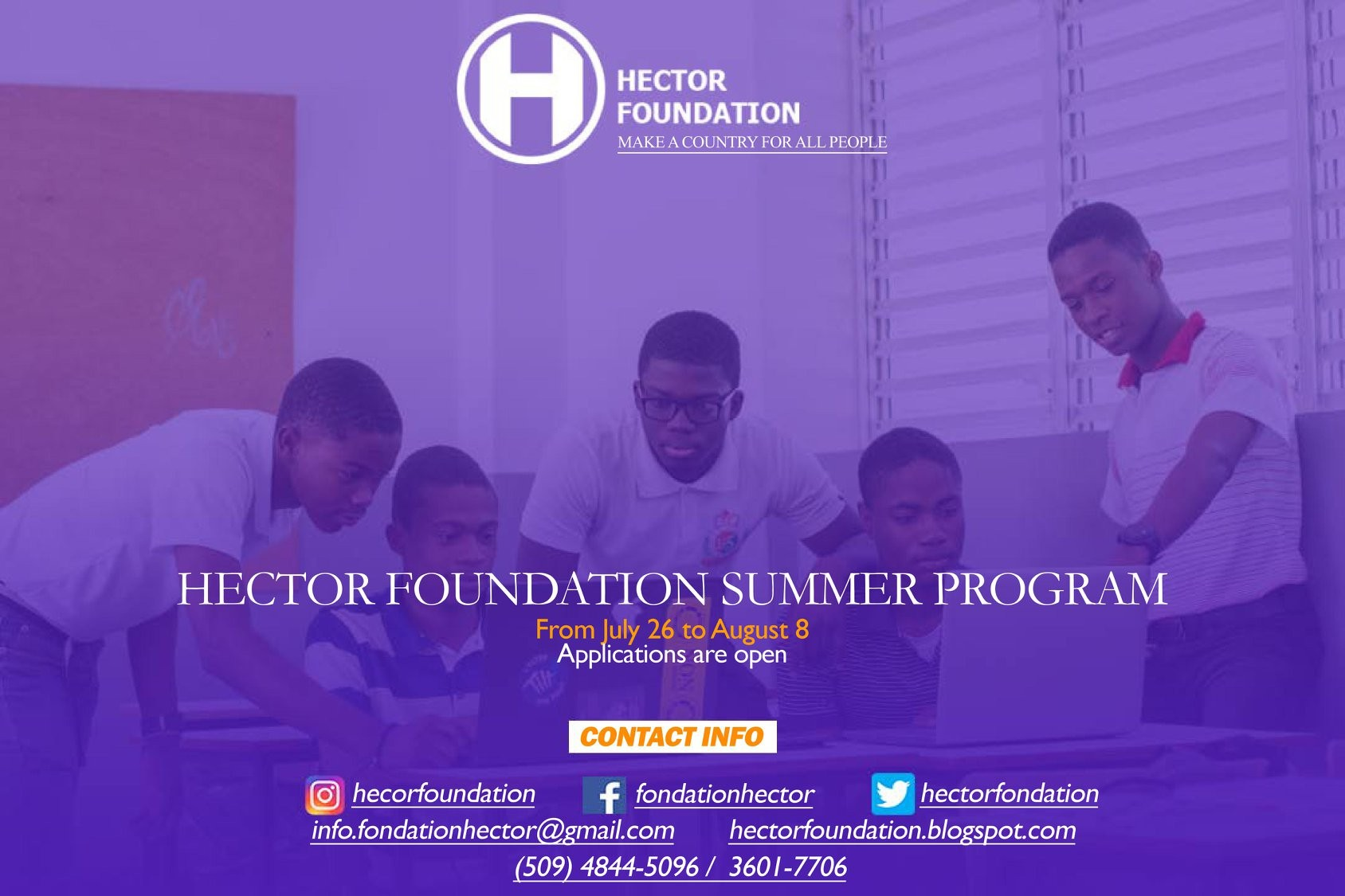 Hector Foundation applications